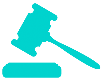 graphic of a gavel and sound block
